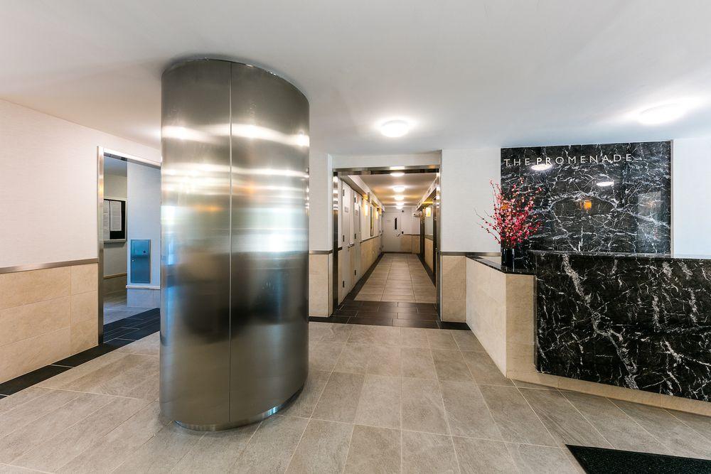 The lobby at Promenade Apartments