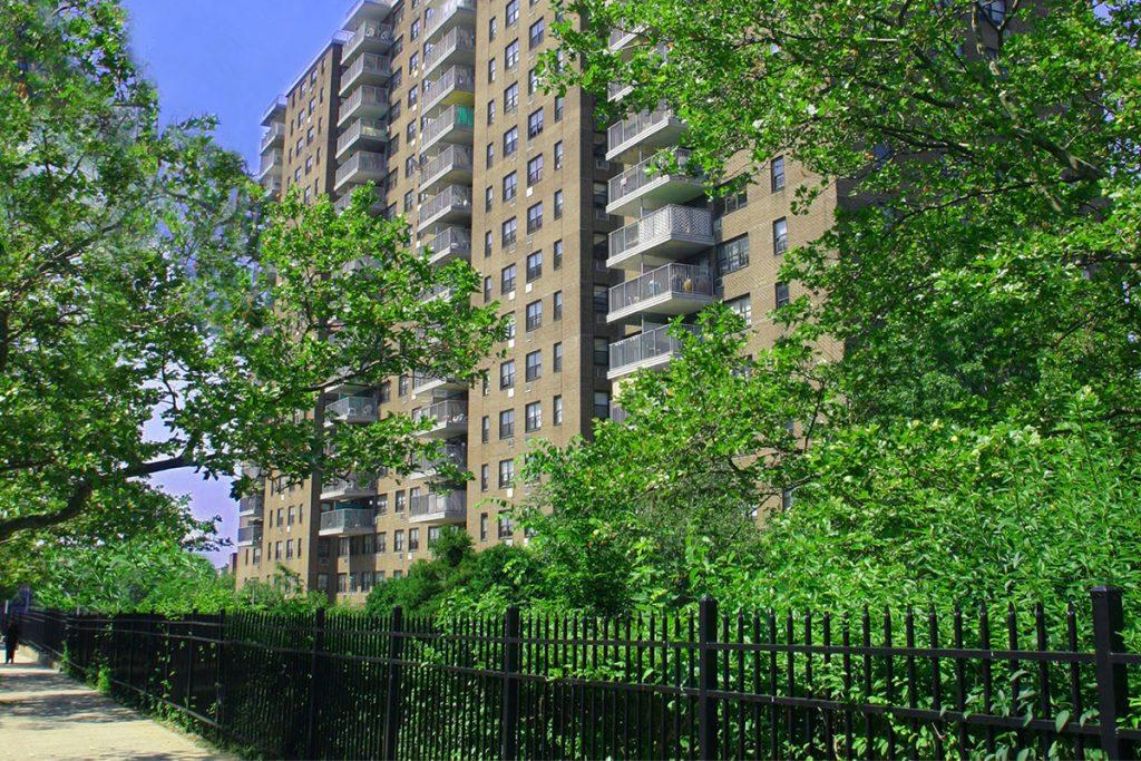 A photo of Hazel Towers, Bronx, NY from the sidewalk