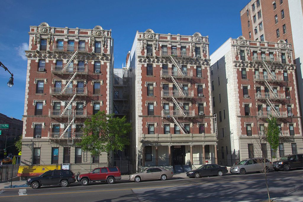 A photo of the Morningside Apartments, New York, NY from the street