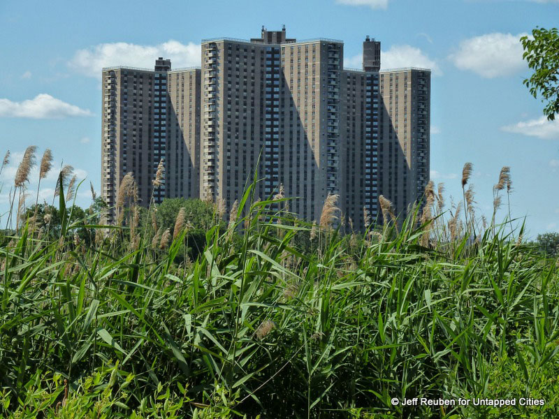 A photo of the tall Co-Op City buildings in Bronx, NY