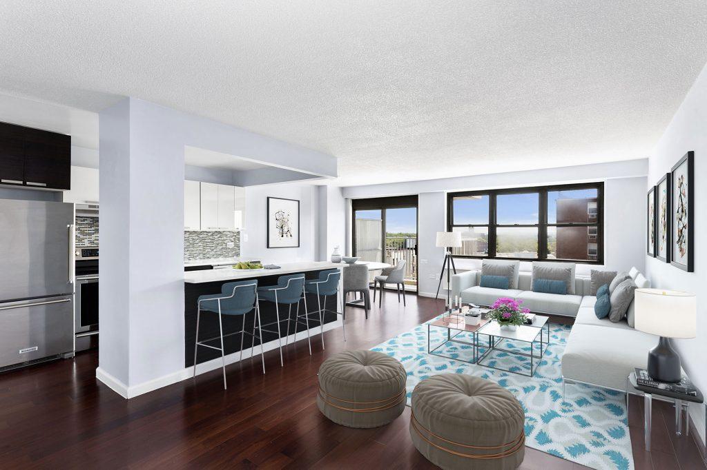 Hazel Towers, Bronx, NY: Living Room & Kitchen